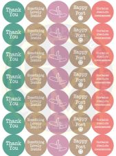 Happy Post Stickers - Pastel Colours